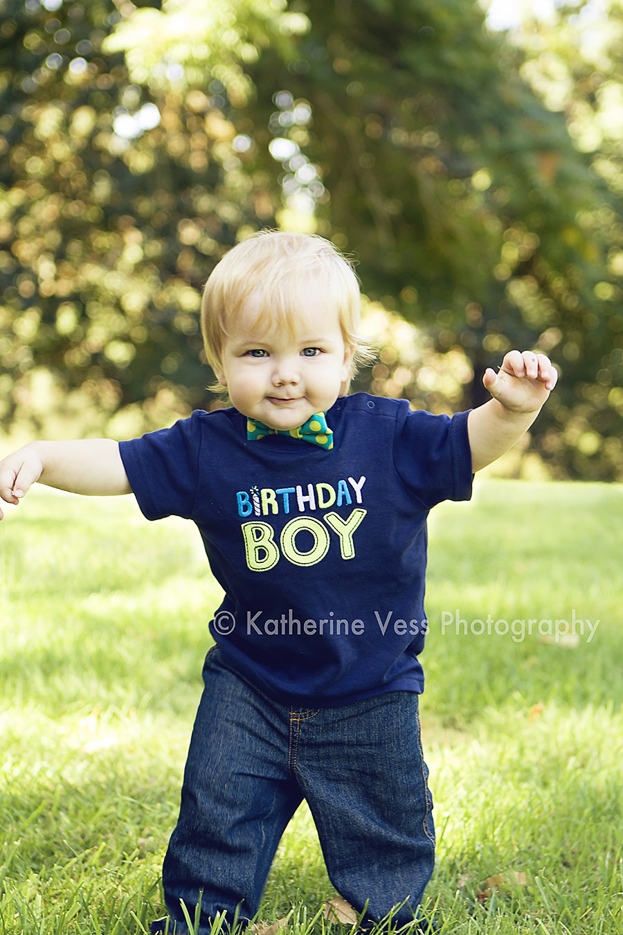 Cute little boy turns 1