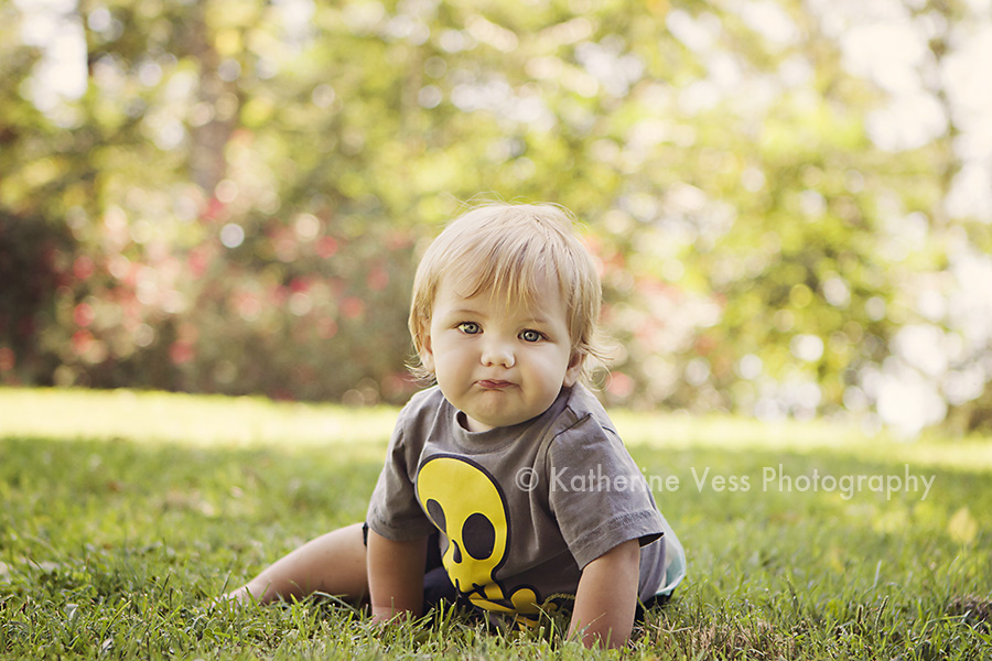 cute baby boy birthday session in Davis, CA