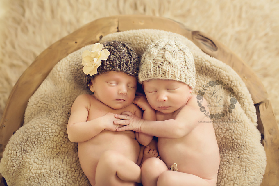 sweet newborn twins, boy, girl